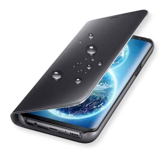 002610a28f Capa de espelho tipo libro - Samsung Galaxy S9 Preto